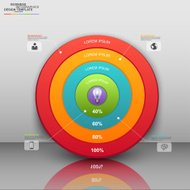 Business target circles infographic template