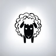 black silhouette of sheep