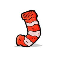 cartoon striped sock