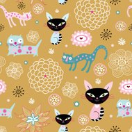 texture of the fun loving cats