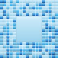 Blue mosaic small tile texture background of spa.
