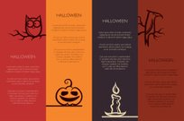 Illustration of retro graphical templates with Halloween element