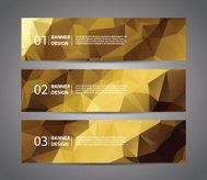 Abstract banner with polygon background