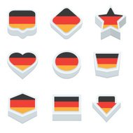 germany flags button set nine styles