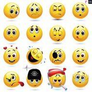 Vector conjunto de iconos smiley
