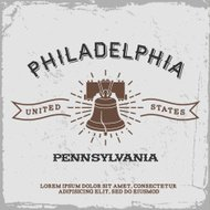 vintage label Philadelphia