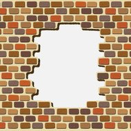 Vector illustration  of an colorful Bricks Wall Background