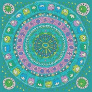 Abstract Flower Mandala. Decorative element for design