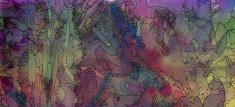 Colorful watercolor and ink background texture