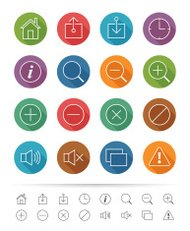 Simple line style : Web & Mobile Application icons set