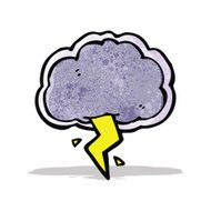 thundercloud cartoon symbol