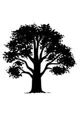 Tree Silhouette Vector Clipart
