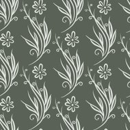 Seamless retro floral abstract ornament