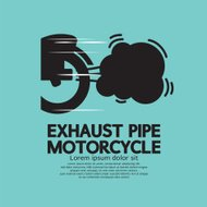 Exhaust Pipe Motorcycle Vector Illustration