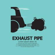 Car's Exhaust Pipe Vector Illustration