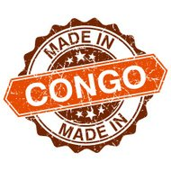 made in Congo vintage stamp isolated on white background