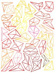 Seamless hand drawn pattern with polygons