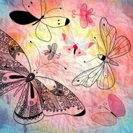 background with butterflies graphics