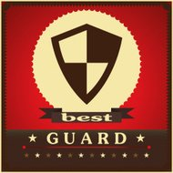 Protection shield sign concept style design