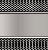metal texture on black hexagon perforated carbon speaker grill