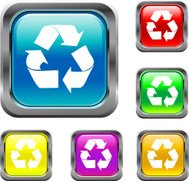 Square Recycle Buttons