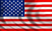 United States of America flag of silk