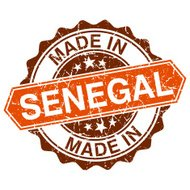 made in Senegal vintage stamp isolated on white background