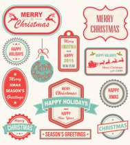 Christmas Labels and Design Elements