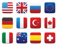Square world flags