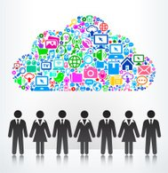 Cloud and Businessmen on Modern Technology & Communication