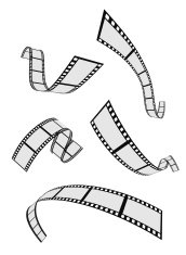 film strip roll 3d set