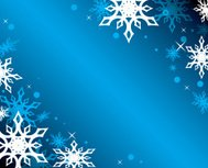 vector blue background with white snowflakes