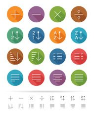 Simple line style : Graphic user interface element icons set 2