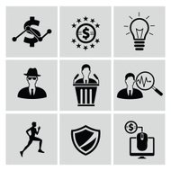 Business,Human resource and marketing icon set,clean vector