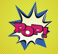 Pop Art stil tipografi
