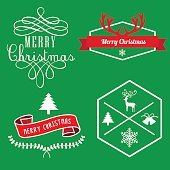merry christmas Labels, banner Tags and Elements