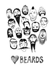 Funny people with beards