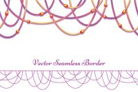 Vector abstract background with colored beads. Horisontal seamle
