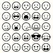 Icons set : Faces, Smileys, Emotion