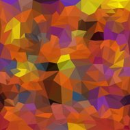Blended bright orange and purple colored abstract polygonal geom