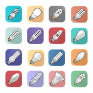 Lightbulb flat icons