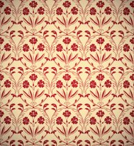 Vintage floral style seamless background.
