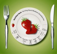 Vector of Nutrition facts Strawberries