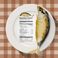Vector of Nutrition facts mackerel