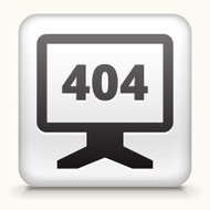 Square Button with 404 Error Monitor