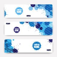 Template banners with watercolor paint abstract background.