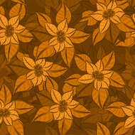 Vector Christmas Star Flower vintage seamless background