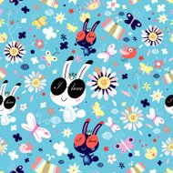 White rabbit abstract isolated on a white backgrounds