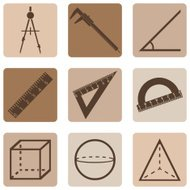 Vector Set of Geometry Icons.