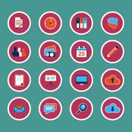 Set of web icons in modern flat design